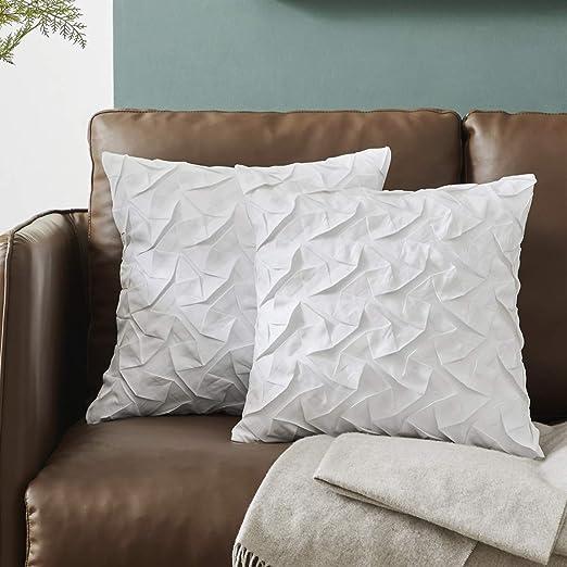 Amazon Com Bulbul Decorative 18x18 White Pillow Covers Sofa