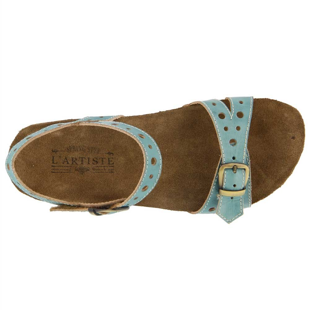 L'Artiste by Spring Step Women's Style 38 Technic Leather Sandal B079NQ28NS 38 Style M EU Sky Blue Leather ff7806