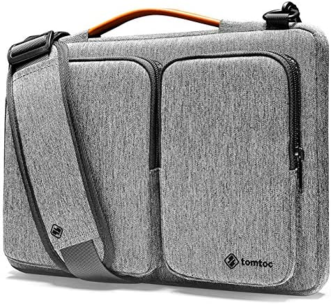 tomtoc 360 Protective Laptop Shoulder Bag for 16-inch MacBook Pro, 15 Old MacBook Pro, Water-resistant Case for Dell XPS 15, New Surface Book 3 2, The New Razer Blade 15, ThinkPad X1 Extreme Gen 2