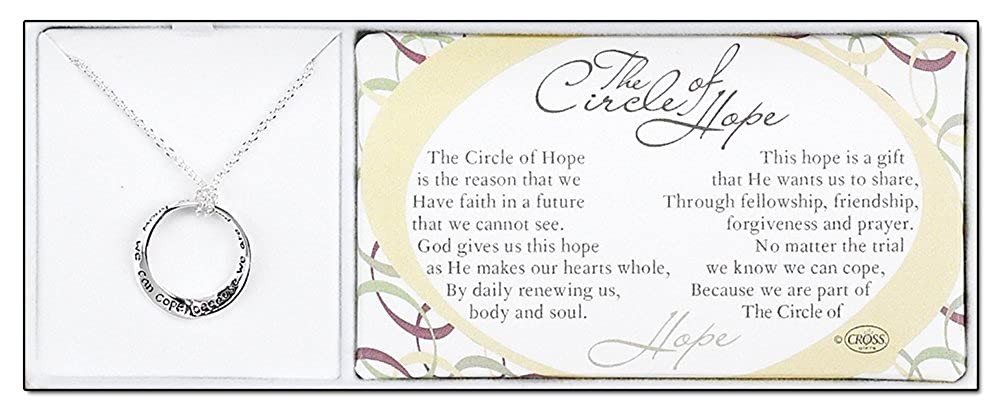 Amazon Circle Of Hope Silver Plated 60 Inch Chain And Pendant Cool Prayer For A Sister Coper