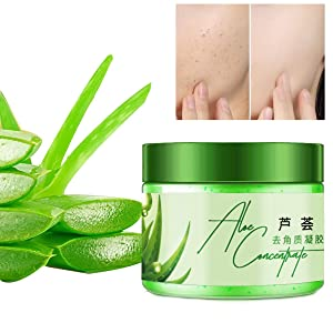 Aloe Vera Exfoliating Peel Gel,Gentle Face Exfoliator Scrub Deep Pore Cleansing and Moisturizing Instantly Removes Dead Skin Cells Revealing a Clear Refreshed Face, 5.6 Fl. Oz