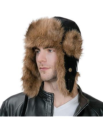 04b3816ca3d SIGGI Men s Faux Fur Trapper Hunting Hat with Earflap Mask Russian Ushanka