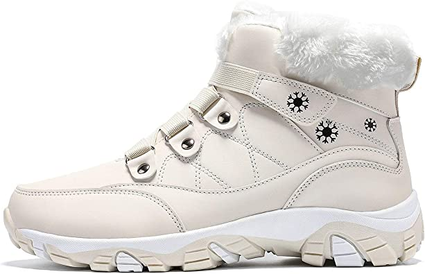 ASHION Womens Waterproof Winter Shoes
