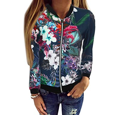 Abrigo de otoño, Dragon868 2018 otoño Mujeres de Manga Larga Tops Chaqueta de Cremallera Outwear Tops Sueltos