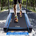 ANCHEER Folding Treadmill with Bluetooth Speaker, 3.25HP Automatic Incline Treadmill, Walking Jogging Running Machine with APP Control for Home Gym