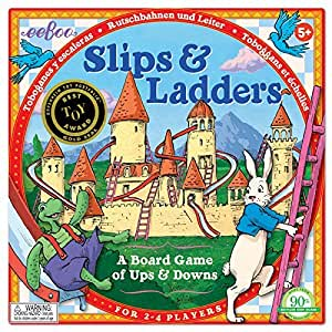 eeBoo Slips and Ladders Board Game