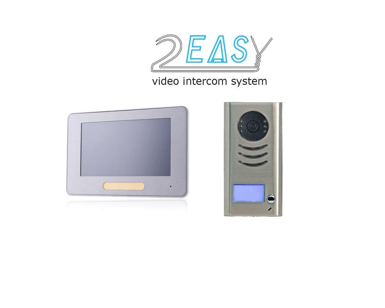 Farb-Video-Türsprechanlage in 2-Draht-Technik für 1-Familienhaus und ...