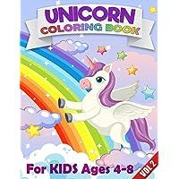 Unicorn Kids Coloring Book: Unique Unicorns Coloring Book for Kids, Fun Color Activity for Children Vol 2