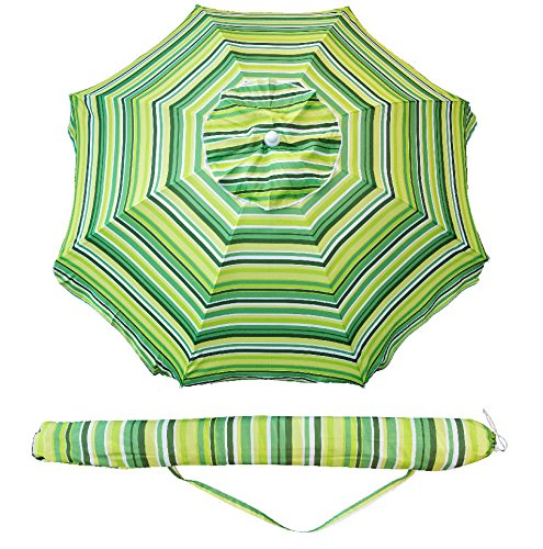 Beach Umbrella Bags (SNAIL 7 feet Vented Tilt Beach Umbrella w/ Sand Anchor and Carry Bag Pool Sun Shade for Chairs, Yellow)