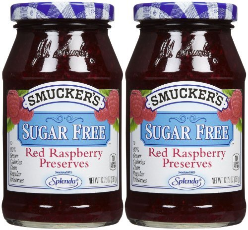 (Smucker's Red Raspberry Sugar Free Preserves - 12.75 oz - 2 pk by)