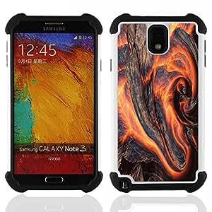 - Flaming Wood/ H??brido 3in1 Deluxe Impreso duro Soft Alto Impacto caja de la armadura Defender - SHIMIN CAO - For Samsung Galaxy Note3 N9000 N9008V N9009
