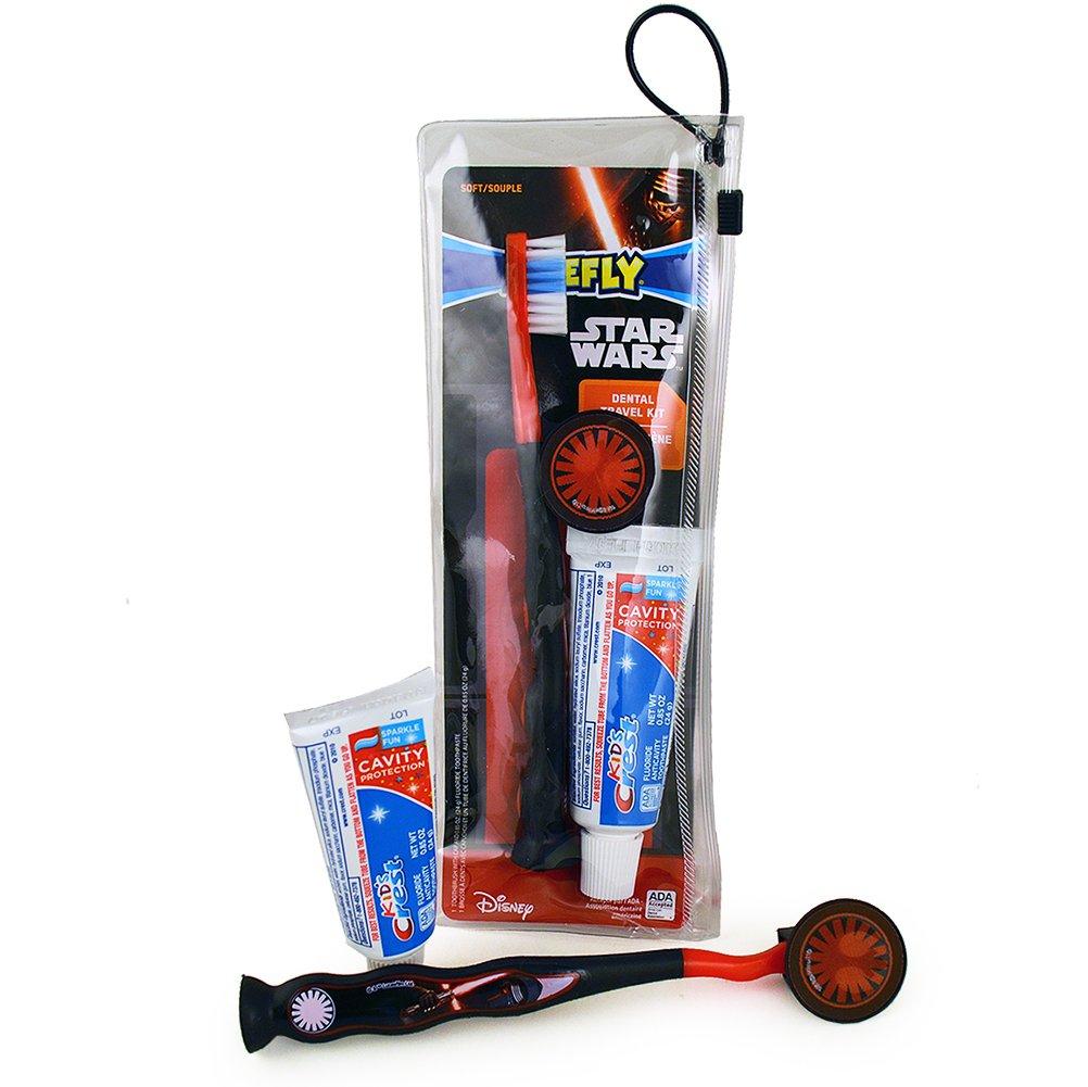 Firefly Star Wars Dental Travel Kit スターウォーズ デンタルトラベルキット(歯ブラシ、歯ブラシキャップ、子供用歯磨き粉24g) B017097T0C