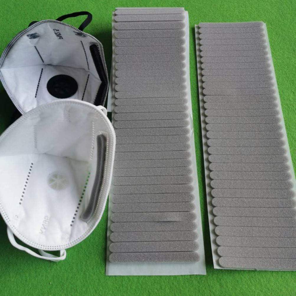 Exceart Einweg Nasenb/ügel f/ür Mundschutz Metall Biegsamen Draht zum Fixieren im Nasenbereich Nasenbr/ücke f/ür DIY Basteln Handwerk Masken Zubeh/ör 200 St/ück Grau
