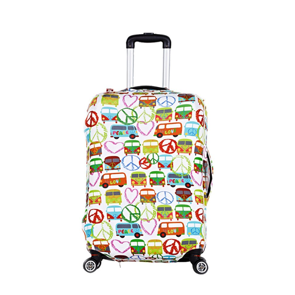 MyTrip Travel Luggage Suitcase Trolley Case Protective Bag Cover (20'' Peace bus)