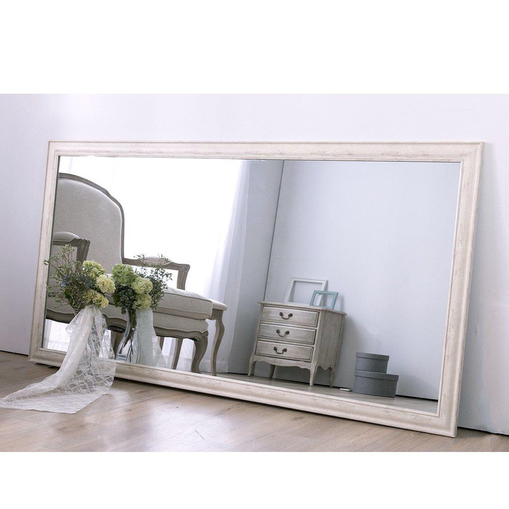 アンティーク調 大型ミラーW90 高さ180cm×幅90cm 全身鏡 ミラー 鏡/01 ホワイト B071V5287L 幅90cm|01 ホワイト 01 ホワイト 幅90cm