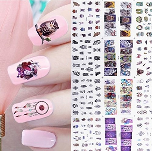1 Sheet Butterfly Nail Art Sticker Water Transfer Nails Wrap Paint Tattoos Stamper Plates Templates Tools Tips Kits Gorgeous Popular Xmas Winter Snow Holiday Stick Tool Vinyls Decals Kit, Type-06