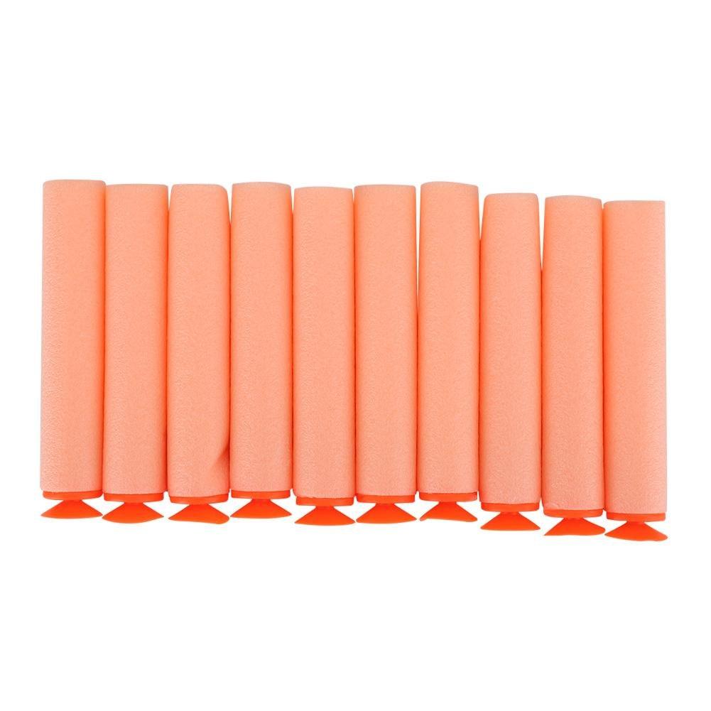 10pcs 7.2cm Universal Suction Darts Foam Bullet N-Strike Elite Series Suction Head Refill Soft Bullets Darts for Nerf N-Strike Elite Series Blaster Toy Gun Nerf Ammo Refill Pack Orange