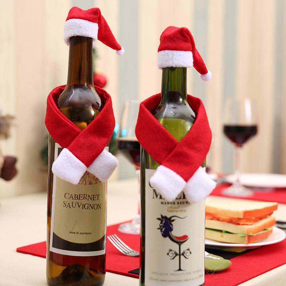 DDG EDMMS 1 Juego de Tapas de Botella de Vino de Navidad Fiesta de ...