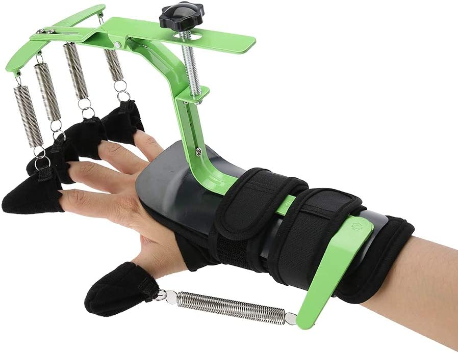 Salmue Ejercitador de ortesis de muñeca para el Dedo, Riel de muñeca Entrenamiento de rehabilitación de la Mano ortopédica para la Carrera de hemiplejía del Paciente