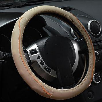 RUIRUI Echt Leder Lenkrad Rad Cover Universal 15 Zoll Automotive ...
