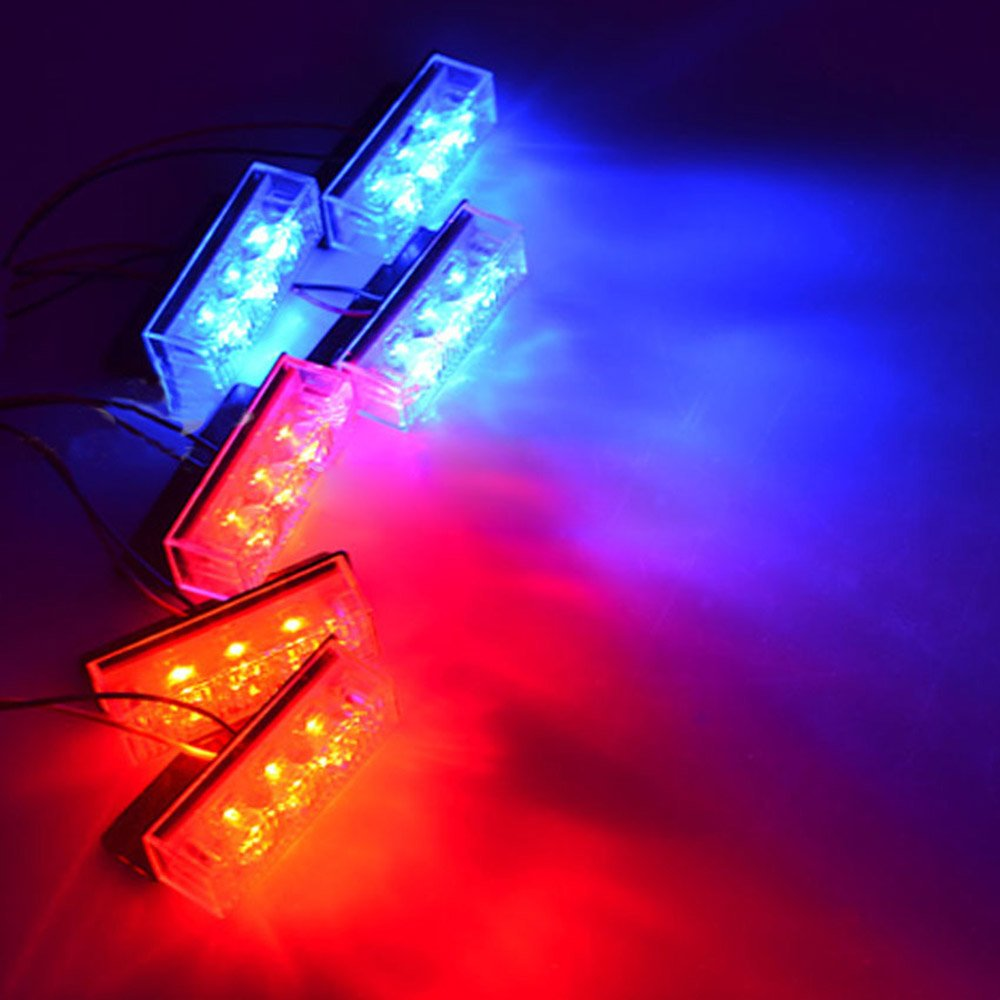 Blau RUICK 18 f/ührte Auto-LKW-Boots-Blitz-R/öhrenblitz-Notwarnlicht-Gefahr-Taschenlampe Rot u