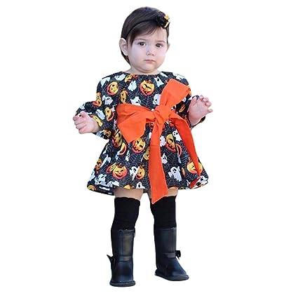 Vestiti Di Carnevale Per Bambini Abiti Carnevale Bimba Vestiti Bimba  Carnevale Bambino Neonato Bambine Zucca Ghost Print Abiti Halloween Abiti  Costume  ... b08e3011bb3