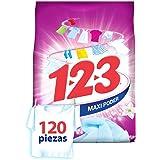 123 1-2-3 Maxi Poder Con Suavizante Y Jazmín 900 gr, color, 900 gramos