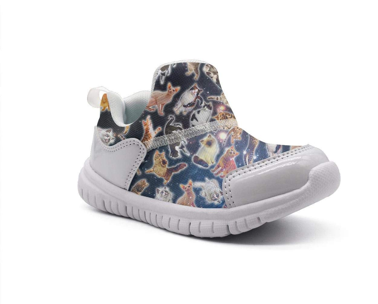 ONEYUAN Children Space Galaxy Cats 2 Kid Casual Lightweight Sport Shoes Sneakers Running Shoes