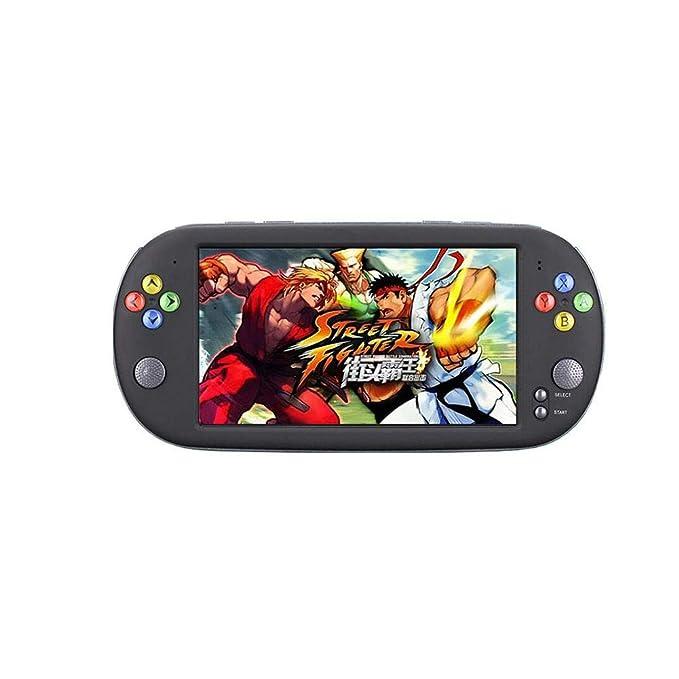 Consola de Juegos portátil, Juego Retro Pantalla Grande HD de 7 Pulgadas Nostálgico Retro, Consola de Juegos PSP Gba FC Controlador de Moda Super Mario: ...