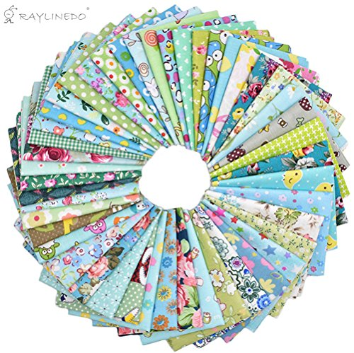 2030cm Assorted Pre-Cut Printing Cotton Cloth Material Mixed Squares Bundle Quilt Fabric Patchwork For DIY Handmade Craft, Green Color Series Customiz…
