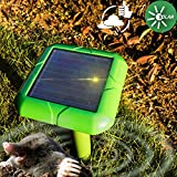 VENSMILE Solar Powered Mole Repeller Gopher Vole Repellent Outdoor Rodent ...