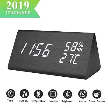 E-More Reloj Digital,Reloj Despertador con Alarmas ...