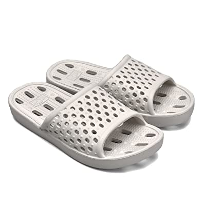 f5bb1fa0a Qiucdzi Bath Shower Slippers Women and Men Breathable Non Slip Indoor House  Sandals Summer Pool Shoes