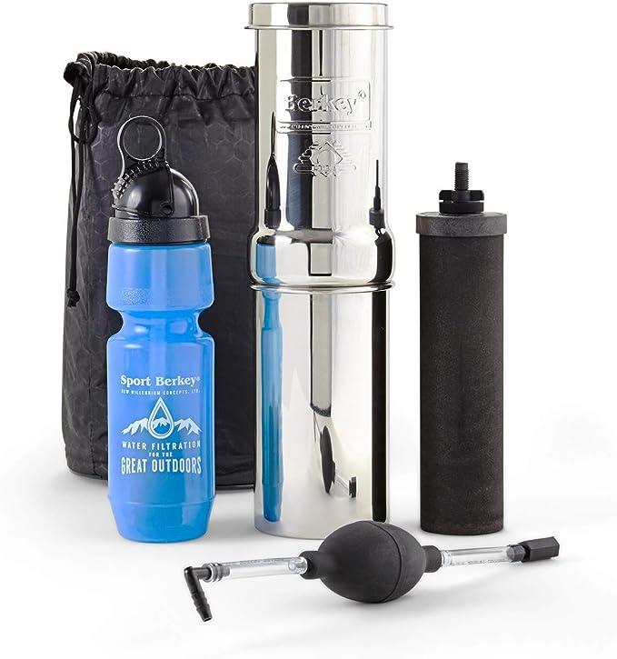 Portable water filter bottle for hiking camping 22oz Sport Berkey Bottle 600ml