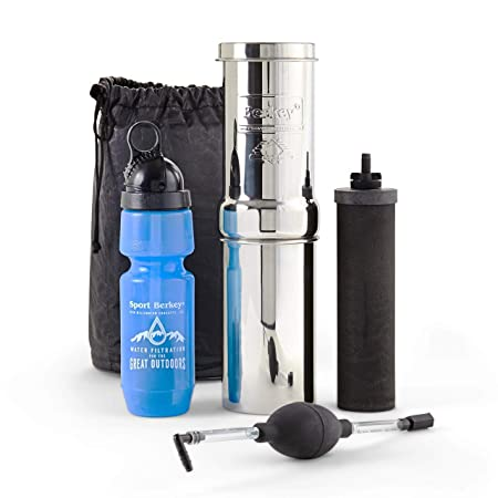 Amazon.com: kit GO berkey incluye Botella de agua de acero ...