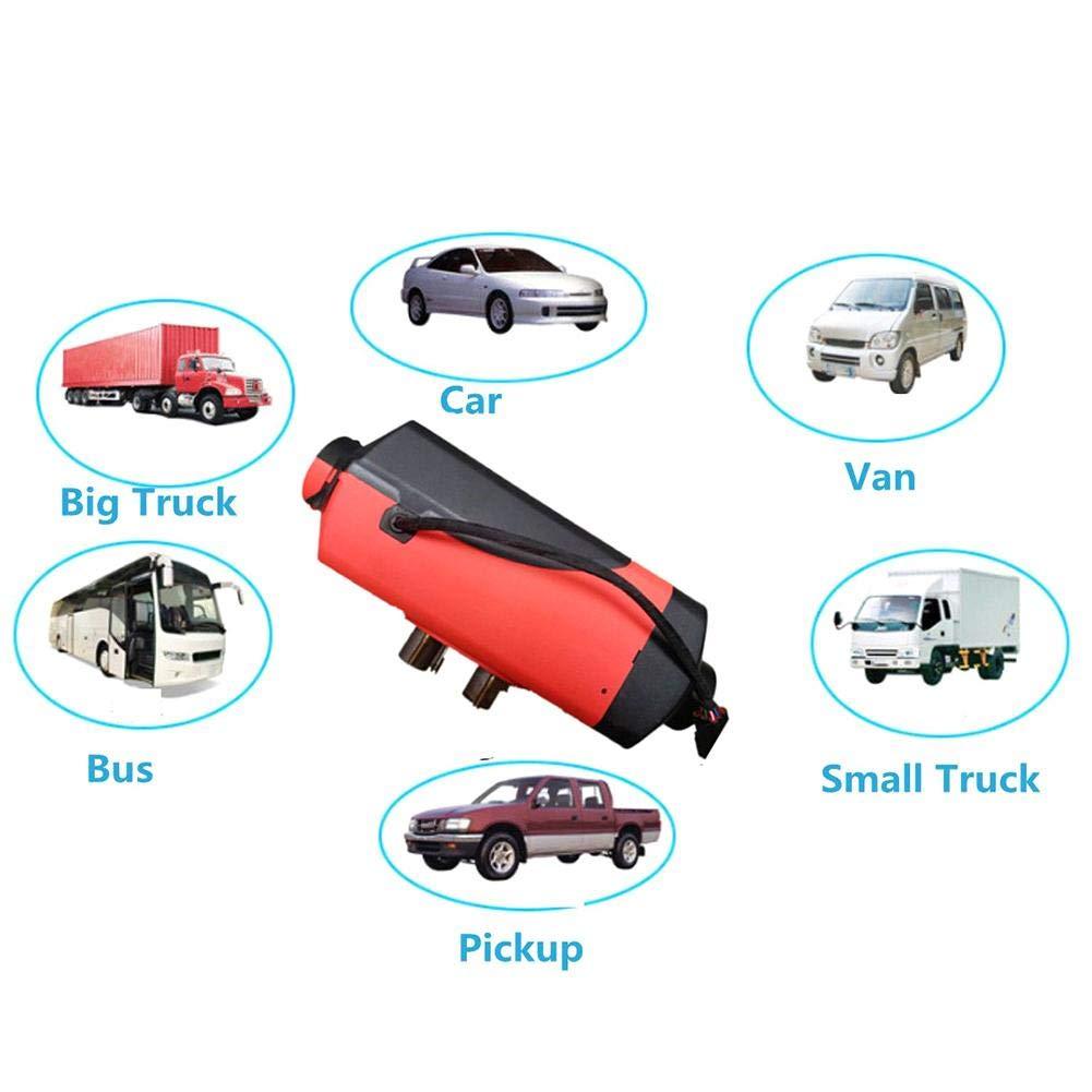 Camiones Remolque Motorhome Barcos lennonsi Calefactor de estacionamiento de Aire,5KW 12V//24V con Control Remoto Monitor LCD para RV