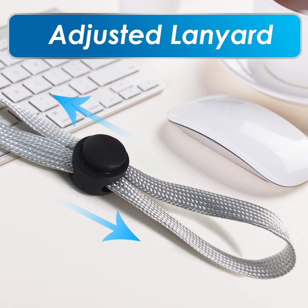 TERAISE Anti-lost Face Shield Lanyard Adjustable Length Face Mask Strap Black-1Pack