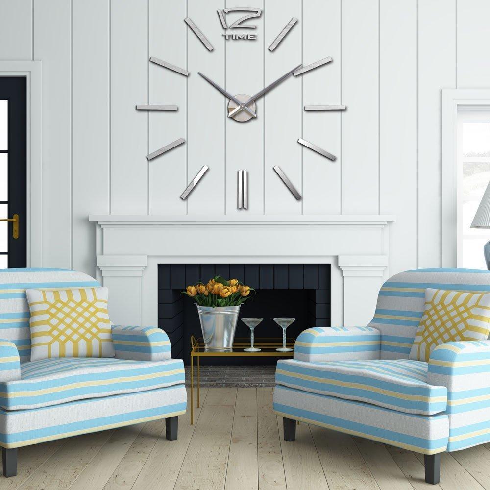 Amazon.com: DIY Wall Clock, Lance Home Large Modern Wall Clock Home ...