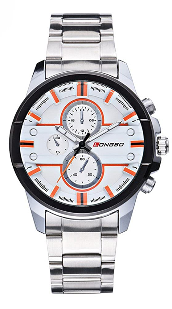 Amazon.com: Fanmis Silver Stainless Steel Quartz Waterproof Men Watches Luminous Pointer to The White: Watches