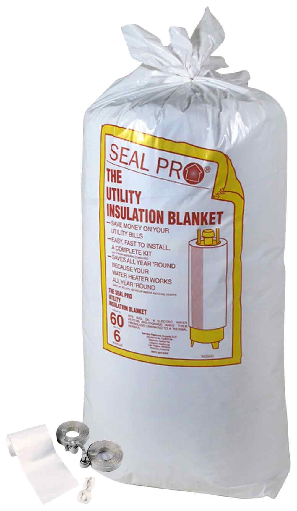 Thermo Guard WZ660 Seal Pro Water Heater Insulation Blanket, Fits Up To 60-Gallon Tanks by Thermo Guard