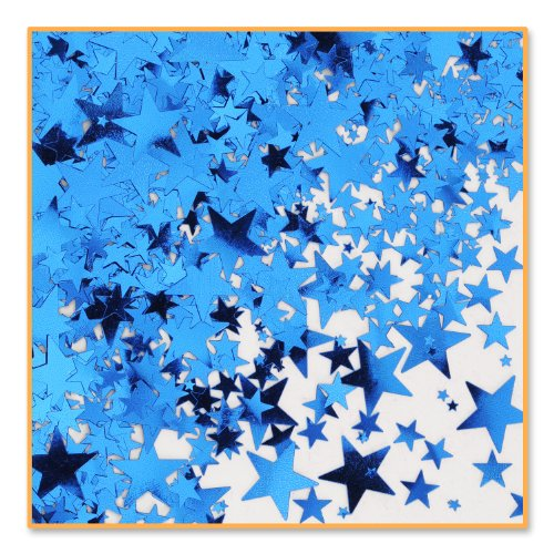 Blue Stars Confetti (Pack of 96) by Beistle
