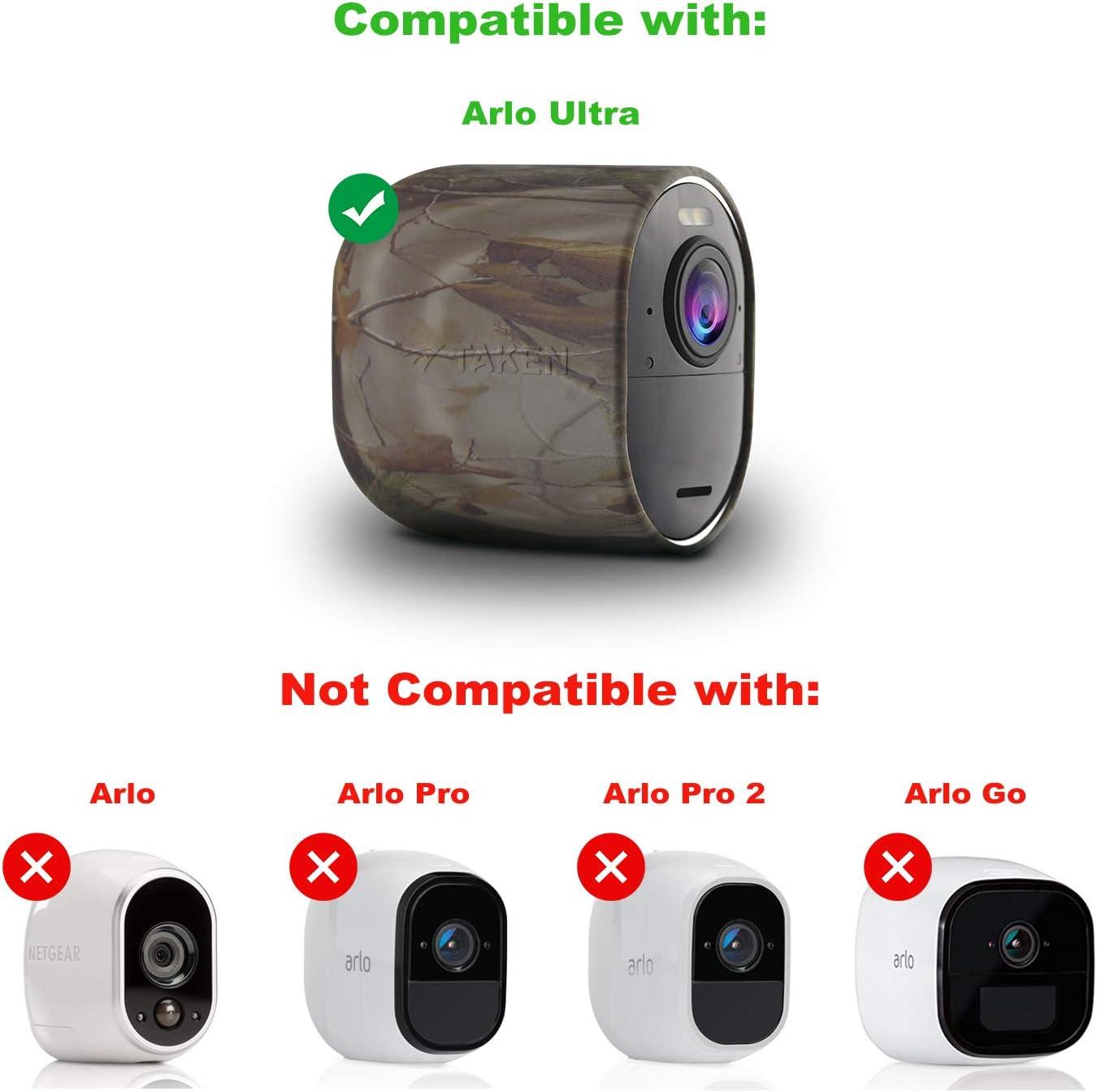 Arlo Ultra Skin Taken Schutzhülle Aus Silikon Kompatibel Mit Arlo Ultra Kamera Langlebig Und Wetterfest 2 Stück Camouflage Elektronik
