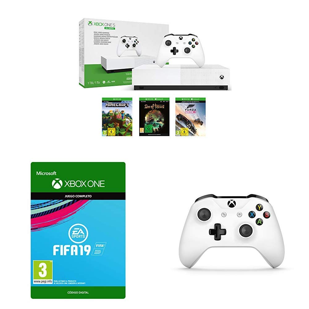 Microsoft Xbox One S All digital + Xbox One Controller + FIFA 19 ...