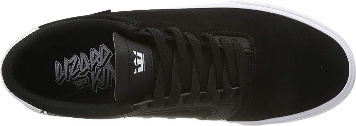 Supra Lizard Skate Shoes Mens Sz 12 Black//White