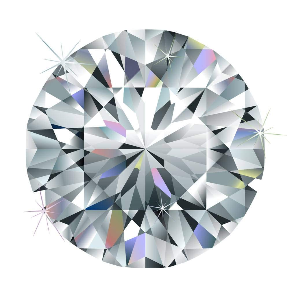 Akvode Moissanite DF Colorless Simulated Diamond Loose Stone Round Brilliant Cut VVS Clarity(0.25 Carats=4mm Diameter)