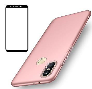 Funda Xiaomi Mi A2, UCMDA Carcasa Xiaomi Mi A2 con Protector de Pantalla, Fundas [Anti-Arañazo] Duro para Xiaomi Mi A2/ Xiaomi Mi 6X (Lanzado en 2018) ...