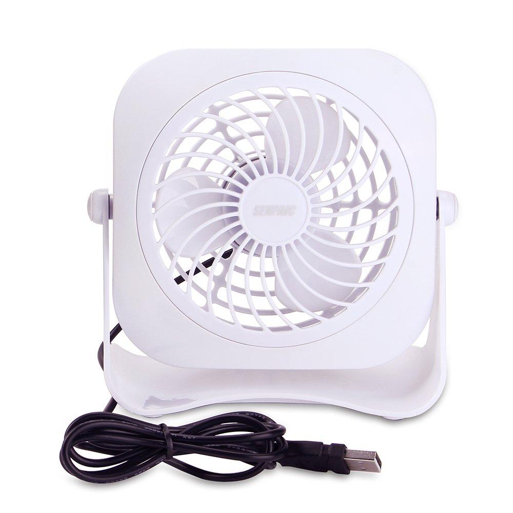 Senpaic Desk Fan Usb Mini Table Fan2 Speed4 Inchquietness White Electric Wiringwiringfan2speedpng Computers Accessories