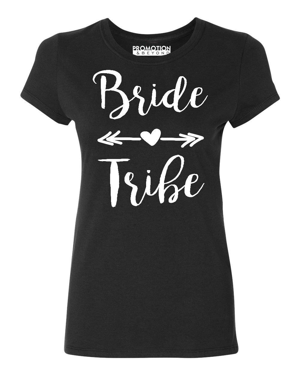 Wedding Bridal Party Gear Bride Tribe Women's T-Shirt, M, Black