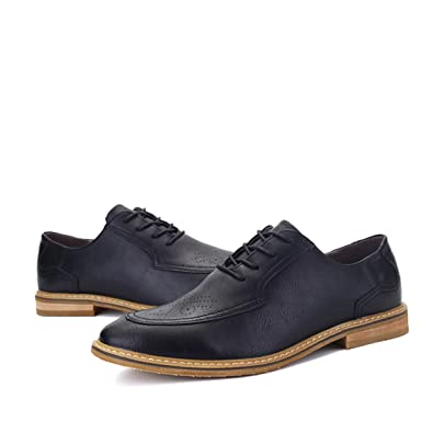 Men's Carved Oxford Shoes Brush Off Leather Dress Shoes sh Off Business Shoes Winklepickers