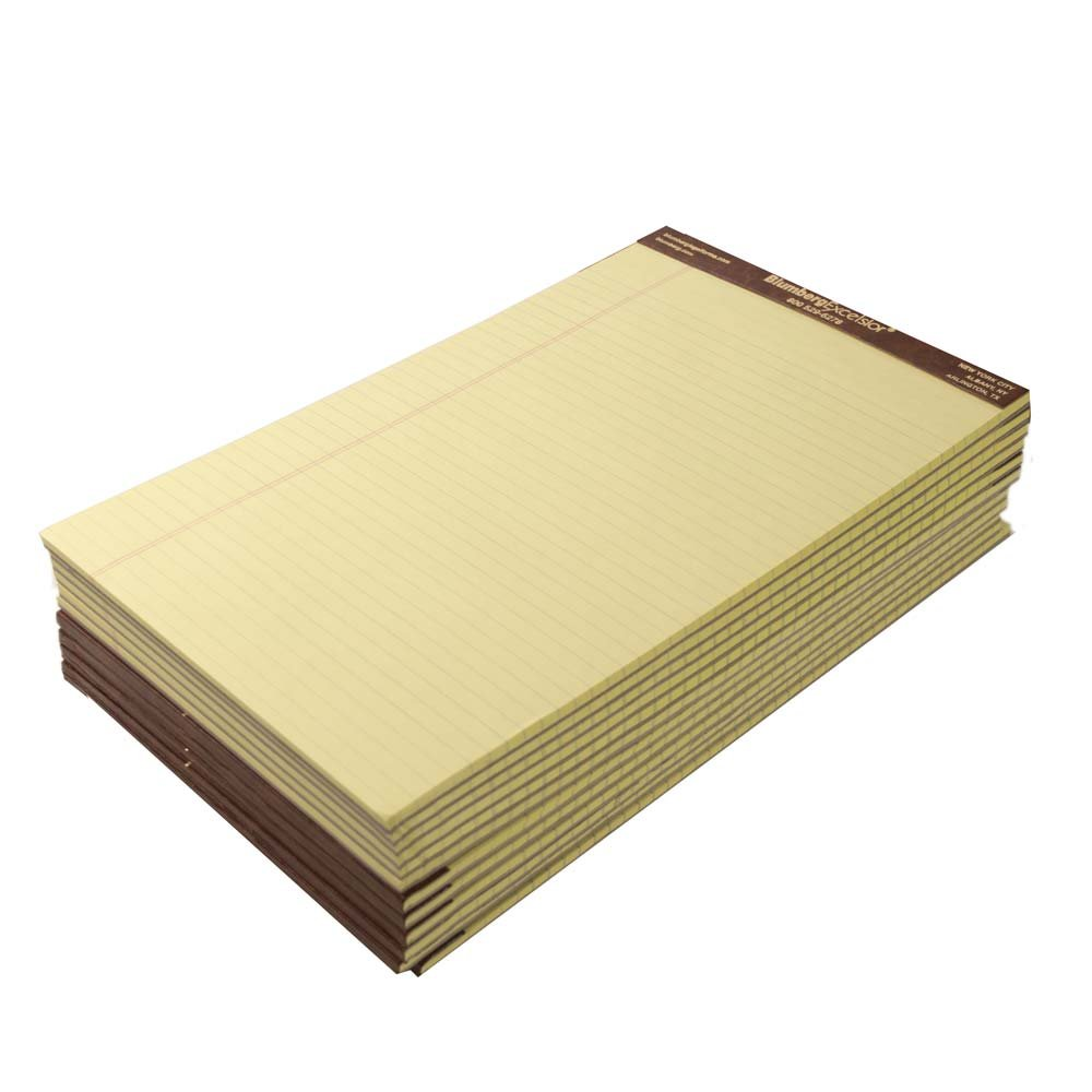 Premium Classic Yellow Legal Pads (8-1/2'' x 14'', Left Ruled Plain) by Blumbergs Law Products
